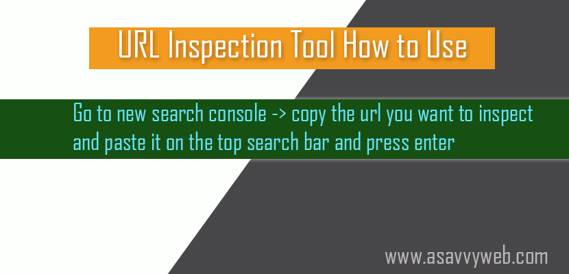 URL Inspection Tool How to Use