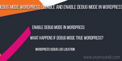 Debug Mode WordPress Disable and Enable Debug Mode in WordPress