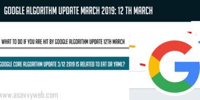 Google Core Algorithm Update March 2019- 12 th March