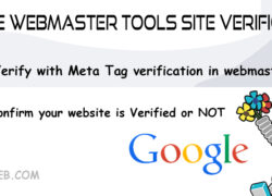 Google Webmaster Tools Site Verification:
