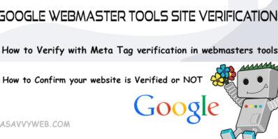 Google Webmaster Tools Site Verification:
