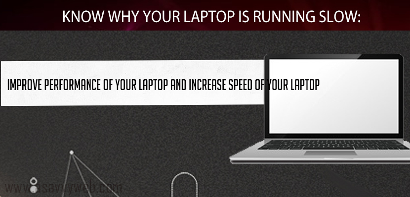 Know Why Your Laptop is Running Slow