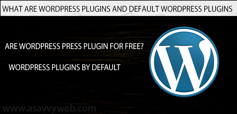 What Are WordPress Plugins and Default WordPress Plugins