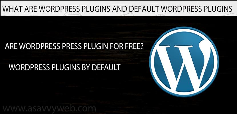 What Are WordPress Plugins and Default WordPress Plugins