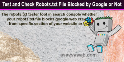 Test and Check Robots.txt File Blocked by Google or Not