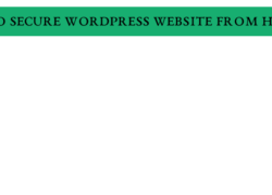 how-to-secure-wordpress-website-from-hackers