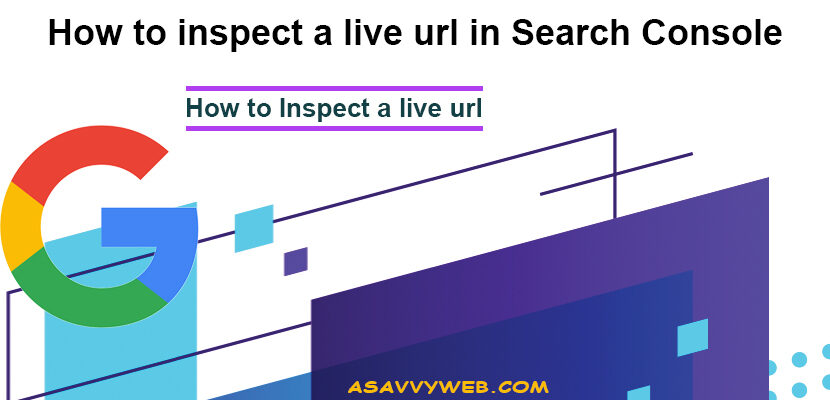 How to inspect a live url in Search Console
