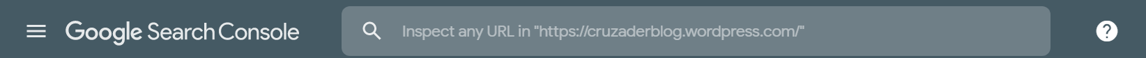 Ask Google to recrawl your URLs search console- url inspect on top search bar