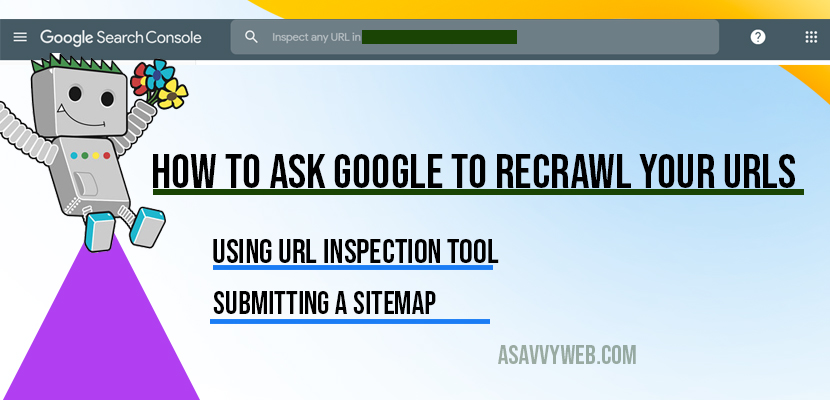 how to ask google to recrawl your url