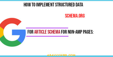 How to Implement Structured Data For Article Schema for Non-AMP Pages
