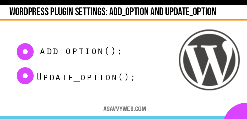 wordpress-plugin-settings-add_options-update_options