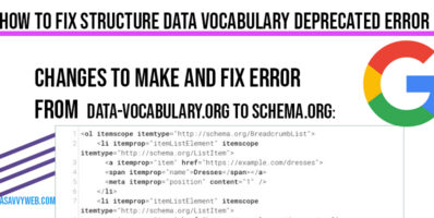 Changes to make and fix Error data vocabulary to Schema