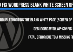 How to fix WordPress blank white screen of death