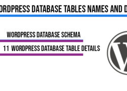 WordPress Database Tables Names and Details