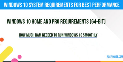 How Much Ram Needed to run Windows 10 Smoothly