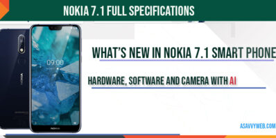 Nokia 7.1-full-specifications