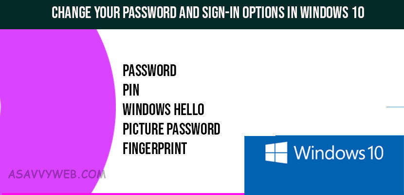 Change Your Password and Sign-in Options in Windows 10