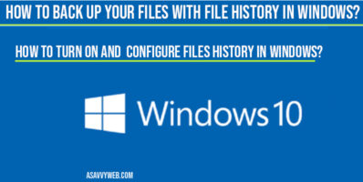 How to Back Up Your Files with File History in windows