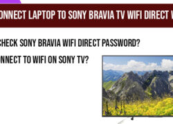 How to Connect laptop to Sony Bravia tv Wifi Direct wirelessly