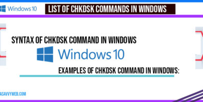 List of chkdsk Commands in windows