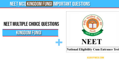 Neet MCQ Kingdom Fungi Important Questions