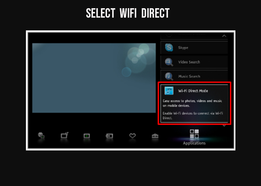select wifi direct