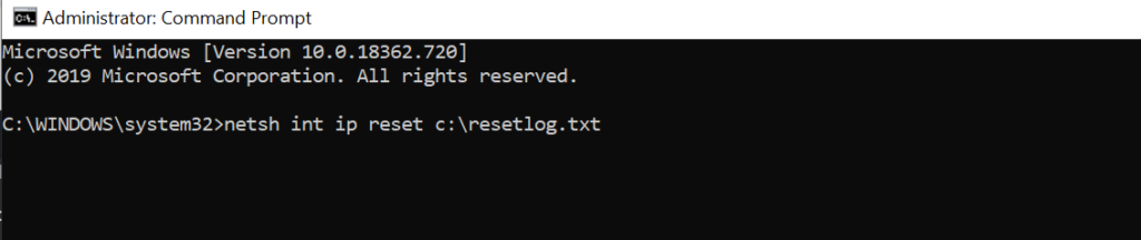 type-netsh-command