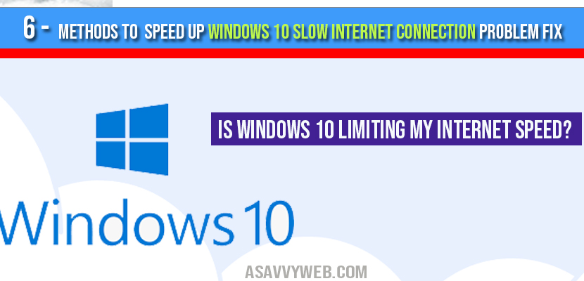 5 Methods To Speed Up Slow Internet Connection Problem A Savvy Web