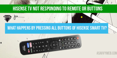 Hisense tv Not Responding to Remote or Buttons
