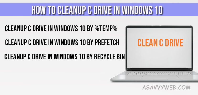 How to Cleanup C Drive in Windows 10