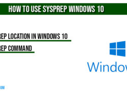 How to Use sysprep Windows 10