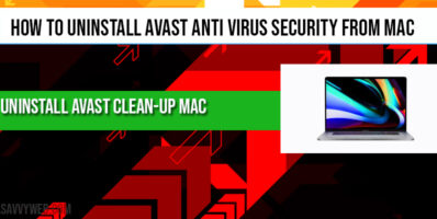 How to uninstall Avast Anti Virus Security from MAC