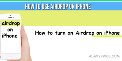 How to use airdrop on iPhone