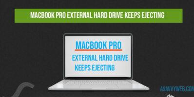 MacBook Pro External hard drive keeps ejecting