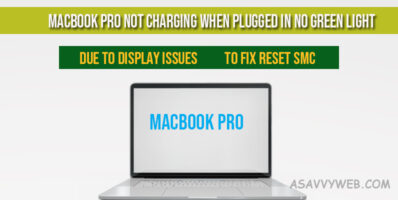 MacBook Pro Not Charging When Plugged in No Green Light