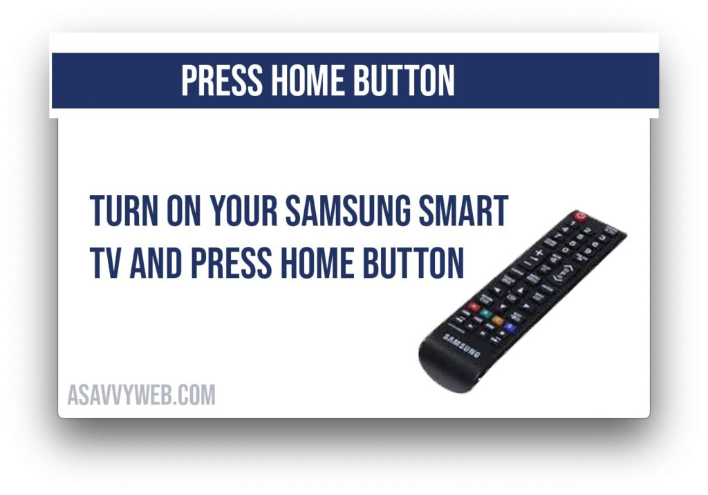 press home button on your remote