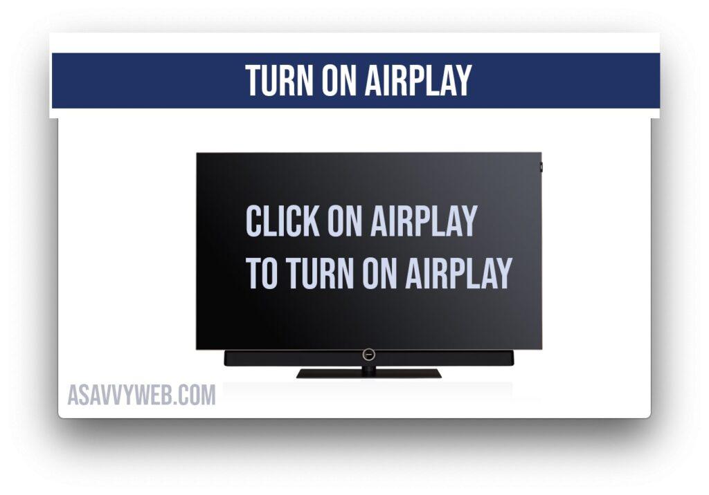 turn on airplay on samsung smart tv