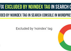 How to Fix Excluded by noindex tag in Search Console