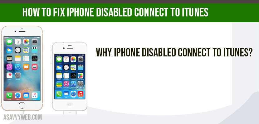 How to Fix iPhone disabled connect to iTunes