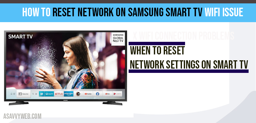 How to Reset network on Samsung Smart tv WIFI Issue