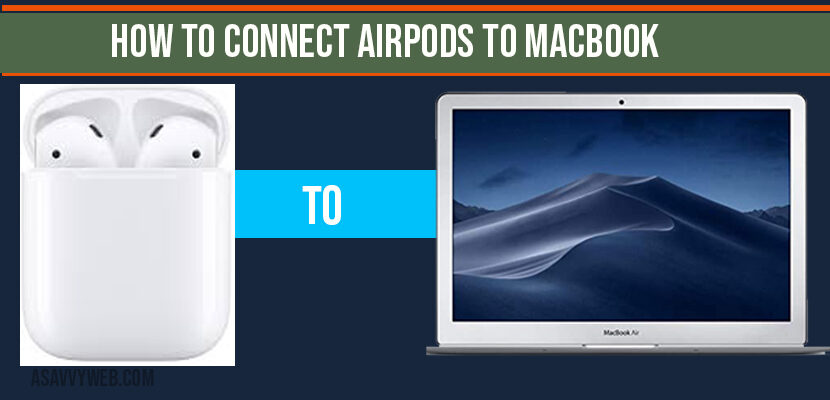 How to connect Airpods to MacBook