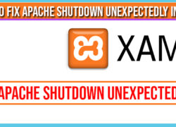 How to fix Apache Shutdown unexpectedly in xampp