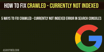 How to fix crawled currently not indexed
