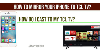 How to mirror your iPhone to TCL TV