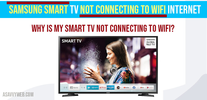 Samsung Smart Tv Not Connecting to WIFI internet