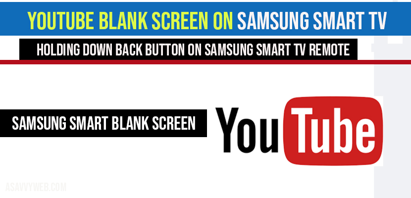 YouTube Blank Screen on Samsung Smart TV