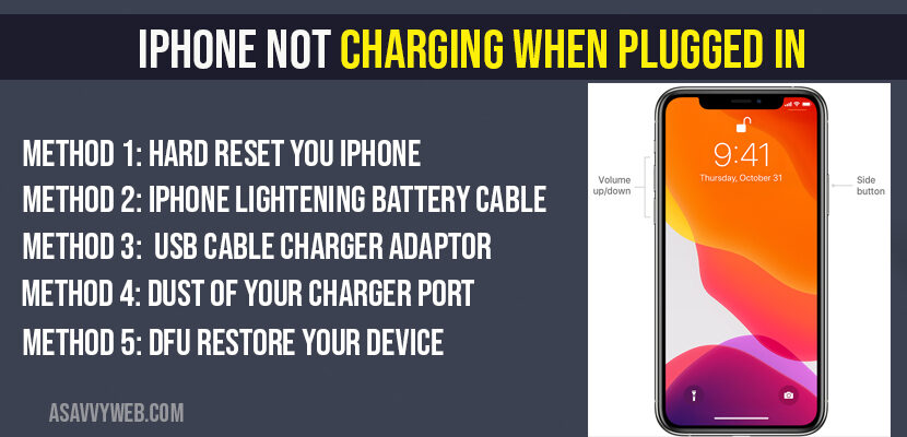 iPhone Not Charging When Plugged In (for All iPhones)