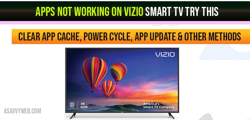 Apps Not Working on VIZIO Smart Tv Try This