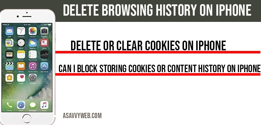 Delete Browsing History on iPhone and Clear Cookies
