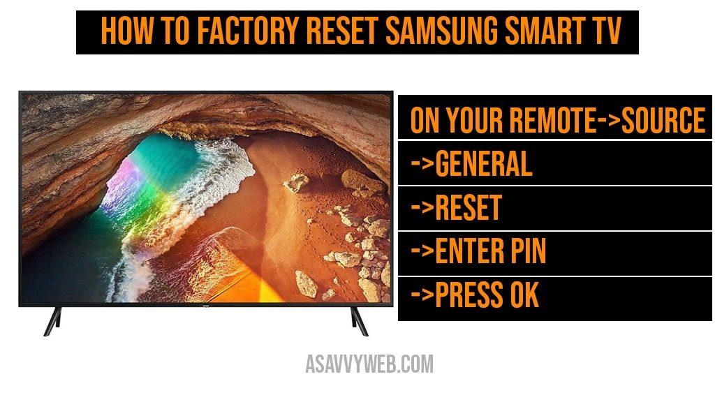 How to Factory Reset Samsung Smart tv